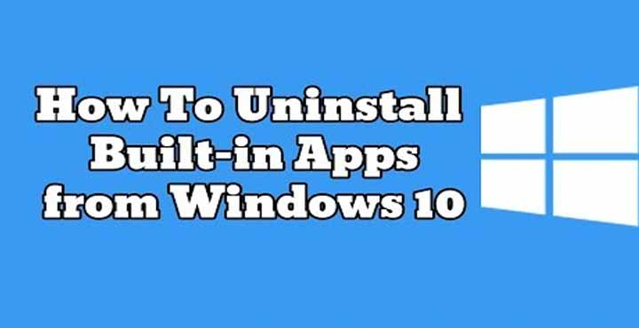 uninstall program or app windows 10