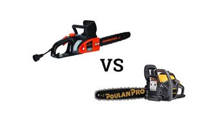 Electric Chainsaws vs Gas Chainsaws